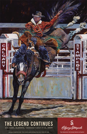 Calgary Stampede Poster - Click here to visit the Calgary Stampede website